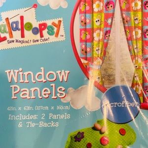 🍁🍂 LaLaLoopsy Microfiber Window Curtains NWT
